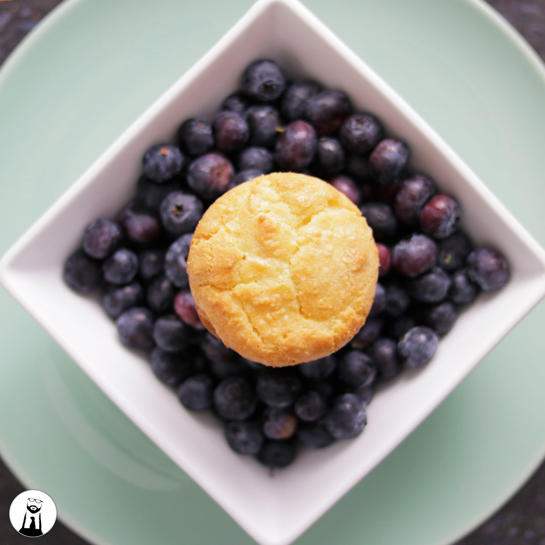 Blueberry Lemon Muffins, Keto & Low-Carb