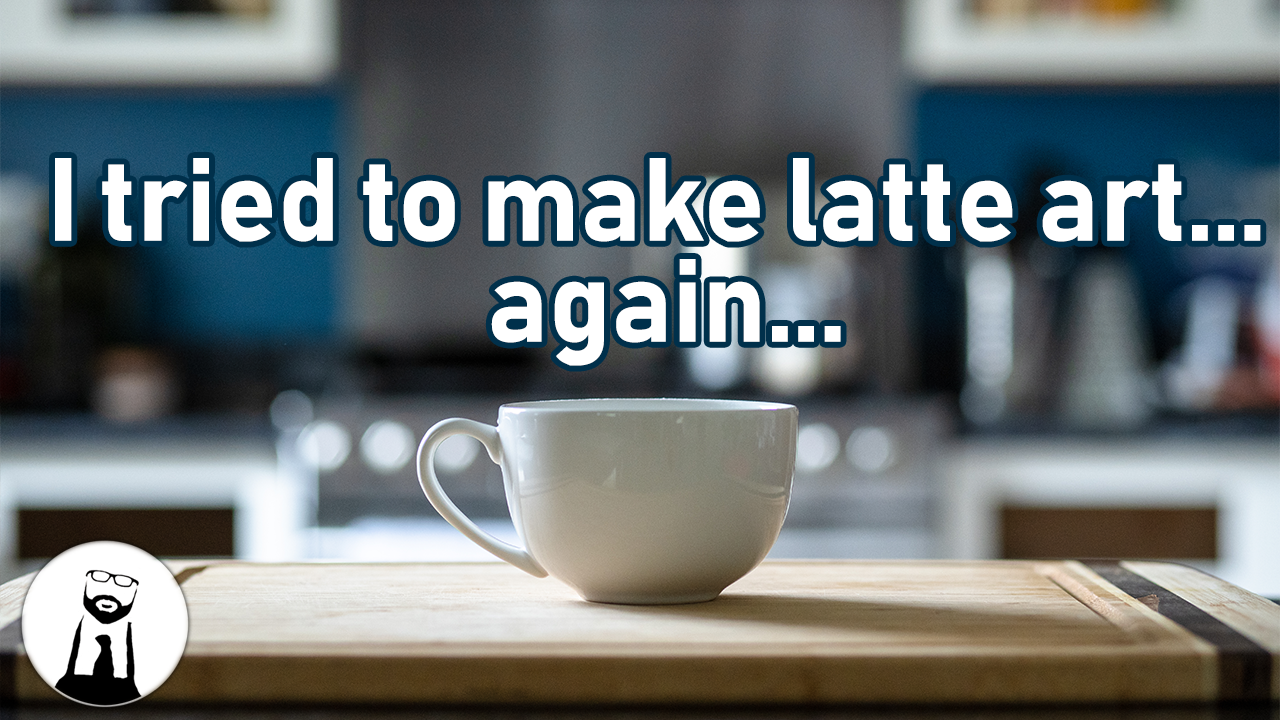 I tried to make latte art… again…