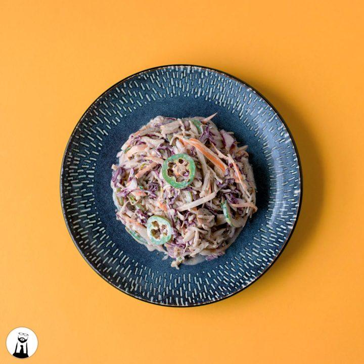 Keto/Low-Carb Spicy Coleslaw - Black Tie Kitchen