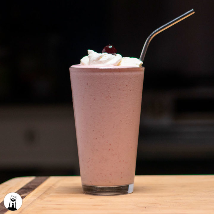 Strawberry Milkshake - Black Tie Kitchen