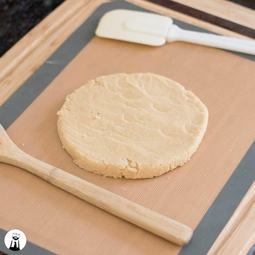 raw sugar cookie dough disc