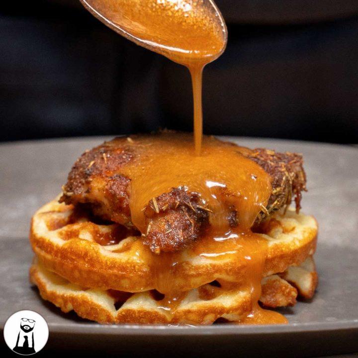 Keto Mardi Gras Chicken M Waffles